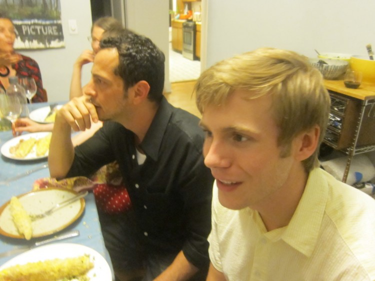 co-writer Mauricio Zacharias (left) and star Zachary Booth