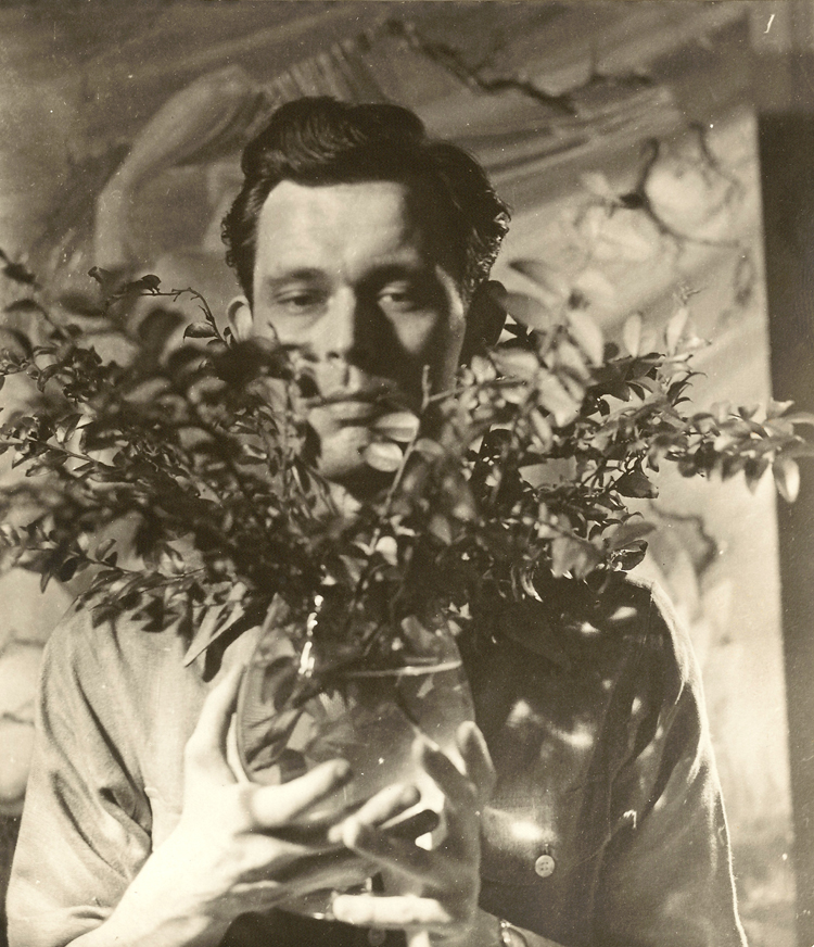 Avery Willard with Flowers, date, photographer unknown