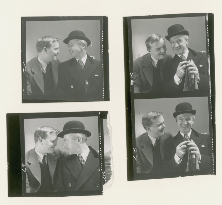 Capote and Beaton contact sheet
